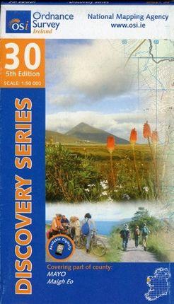 Irish Discovery Series 30. Mayo (W Cent) 1 : 50 000