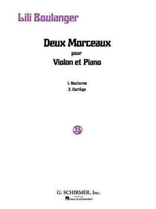 2 Morceaux: Nocturne and Cortege: Violin and Piano