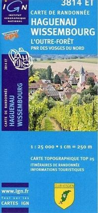 Haguenau / Wissemberg / L'Outre-Foret 1 : 25 000