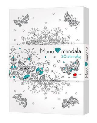 MANO ŠIRDIES MANDALA: net 20 unikalių atvirlaiškių su įspūdingų raštų mandalomis, nuspalvintomis asmeniškai artimam žmogui!
