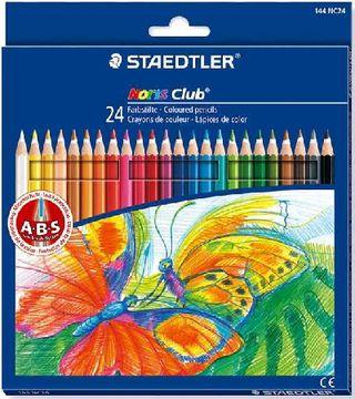 Spalvoti pieštukai STAEDTLER NORIS CLUB, 24 sp.