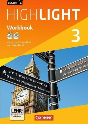 English G Highlight 03: 7. Schuljahr Hauptschule. Workbook mit CD-ROM (e-Workbook) und Audio-CD