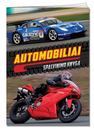 Automobiliai. Spalvinimo knyga