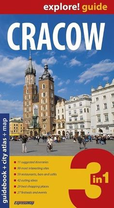 Cracow guidebook + city atlas + map