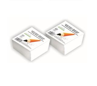 Lapeliai užrašams balti, klijuoti 9x9 PU-500KL