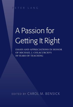 A Passion for Getting It Right