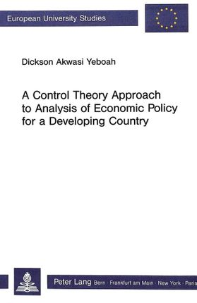 A Control Theory Approach to Analysis of Economic Policy for a Developing Country