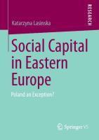 Social Capital in Eastern Europe