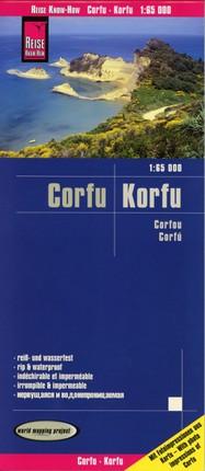 Reise Know-How Landkarte Korfu / Corfu 1:65.000