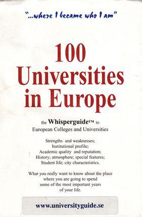 100 Universities in Europe