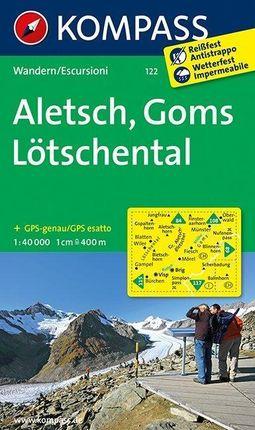 Aletsch - Goms - Lötschental 1 : 40 000