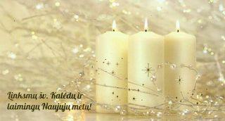 Kalėdinis sveikinimo atvirukas (žvakės)