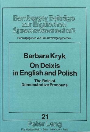On Deixis in English and Polish