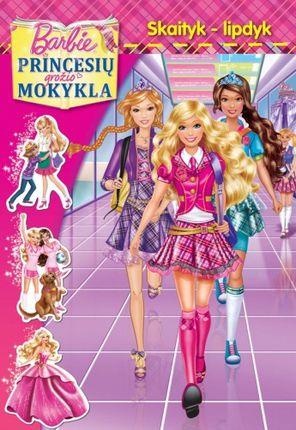 Barbie princesių grožio mokykla. Skaityk ir lipdyk