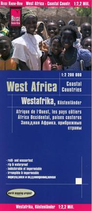 Reise Know-How Landkarte Westafrika, Küstenländer (1:2.200.000) : von Senegal bis Nigeria