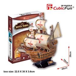 "3D dėlionė: laivas ""Santa Maria"""