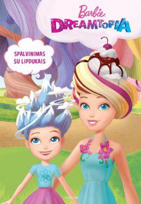 Barbie. Dreamtopia. Spalvinimas su lipdukais