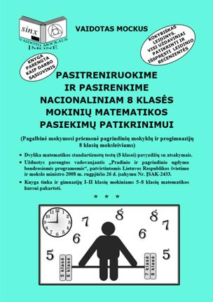 Pasitreniruokime ir pasirenkime nacionaliniam 8 klasės mokinių matematikos pasiekimų patikrinimui