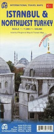 Istanbul City Map 1 : 11 000 / Northwest Turkey 1 : 550 000