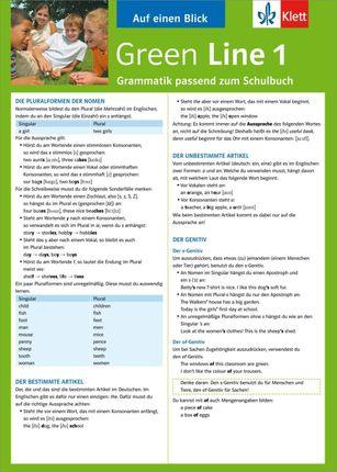 Green Line 1. Alles auf einen Blick. Grammatik