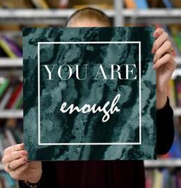 """Laimingų namų taisyklės """"You are enough """", 30 x 30 cm"""