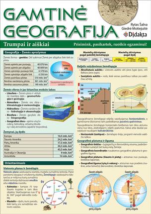 Gamtinė geografija trumpai ir aiškiai. Prisimink, pakartok, ruoškis egzaminui!