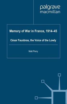 Memory of War in France, 1914-45