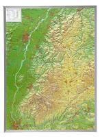 Schwarzwald 1 : 200 000 mit Aluminium Rahmen