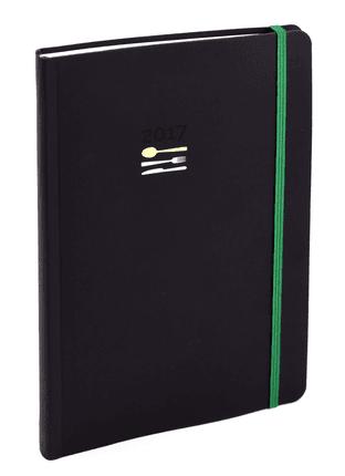 2017 m. darbo kalendorius 12 RECEPTŲ: solidaus dizaino darbo knyga su vienų geriausių Lietuvos šefų receptais. Idealus formatas, malonus liesti viršelis, patogi gumelė ir daili juostelė-skirtukas