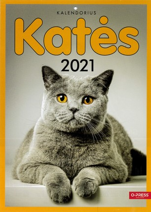 2021 m. sieninis kalendorius Katės (A4)