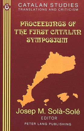 Proceedings of the First Catalan Symposium