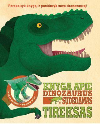 Knyga apie dinozaurus ir sudedamas Tireksas