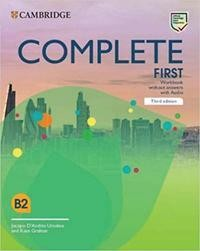 Complete First. Third edition. Workbook without answers with Audio Download