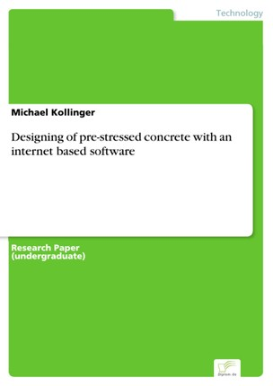 Designing of pre-stressed concrete with an internet based software