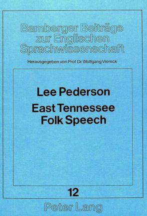 East Tennessee Folk Speech