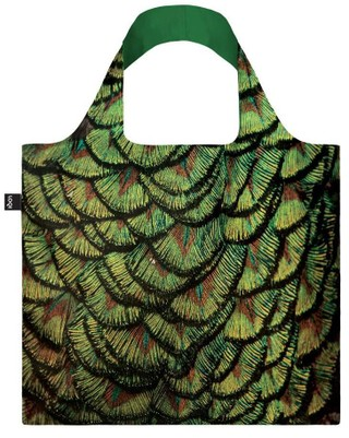 "LOQI pirkinių krepšys ""National Geographic Photo Ark Indian Peafowl Bag"""