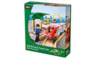 BRIO kelių ir geležinkelių rinkinys, 33209