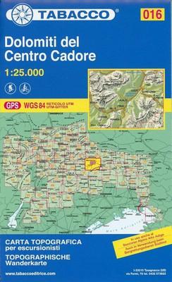 Tabacco Wandern 1 : 25 000 Dolomiti del Centro Cadore