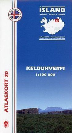 Island Atlaskort 20 Kelduhverfi 1:100.000