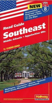 Hallwag USA Road Guide 08. Southeast 1 : 1 000 000
