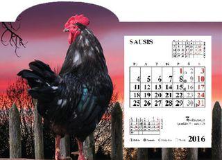 """2017 metų stalinis kalendorius """"Gaidys"""""""