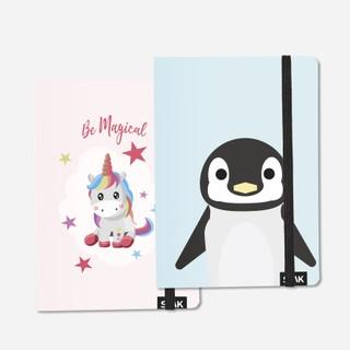 TAŠKUOTOS UŽRAŠINĖS Be Magical Unicorn & Penguin (2 vnt)