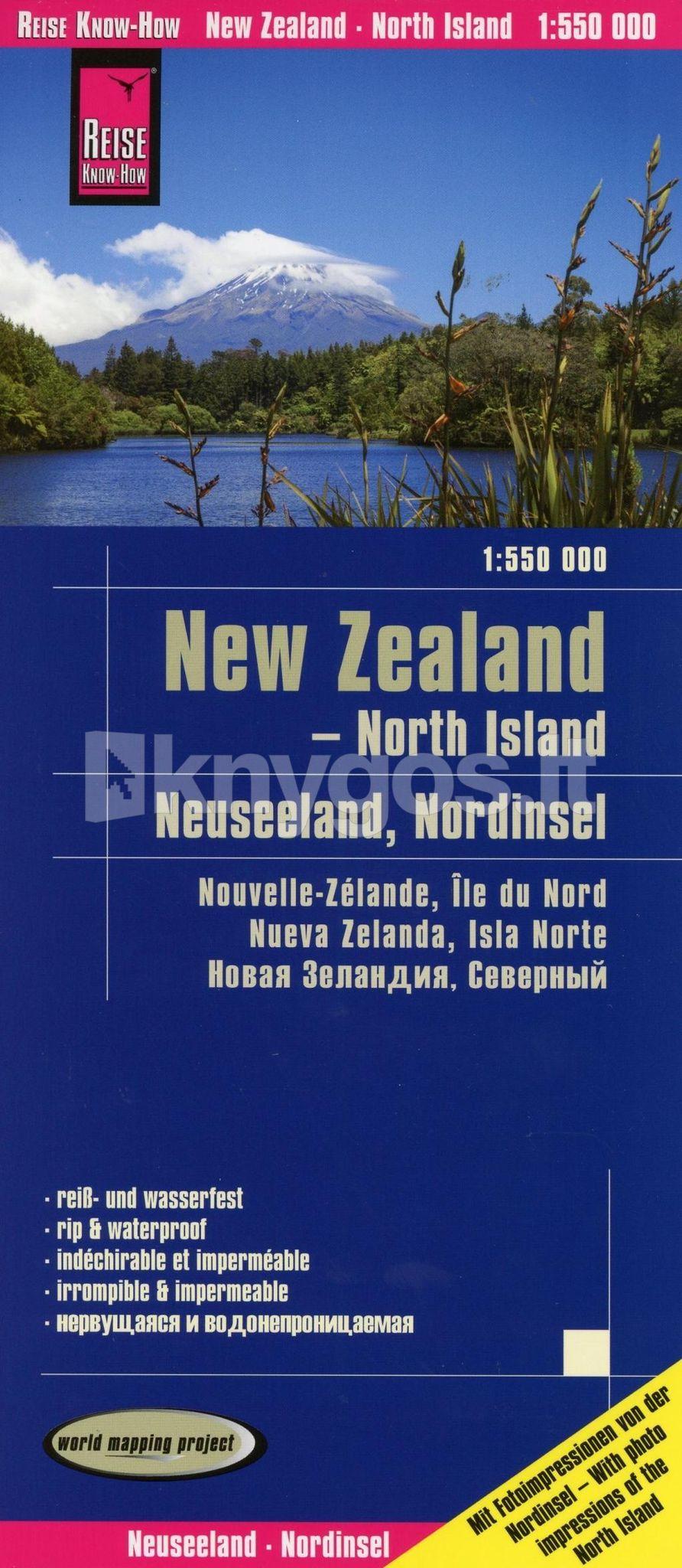 Neuseeland Nordinsel Karte.Knyga Reise Know How Landkarte Neuseeland Nordinsel 1 550 000