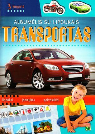 Albumėlis su lipdukais. Transportas (3 knygelė)