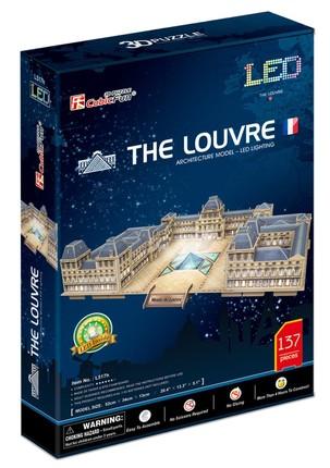 3D dėlionė: The Louvre with LED