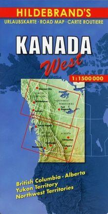 Kanada West 1 : 1 500 000. Hildebrand's Urlaubskarte