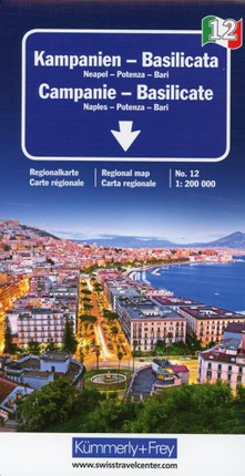 KuF Italien Regionalkarte 12. Campanien / Basilicata 1 : 200 000