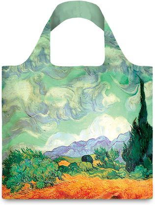 "LOQI pirkinių krepšys ""Vincent van Gogh: A Wheat Field with Cypresses"""