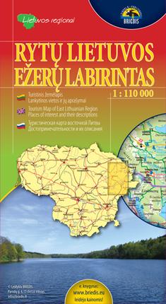 Rytų Lietuvos ežerų labirintas. 1 : 110 000