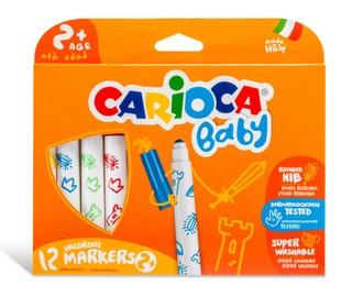 Flomasteriai SuperBaby CARIOCA 12 sp.
